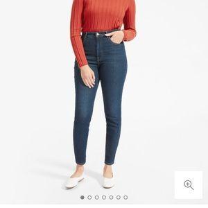 Everlane highwasted skinny jeans. Dark blue.